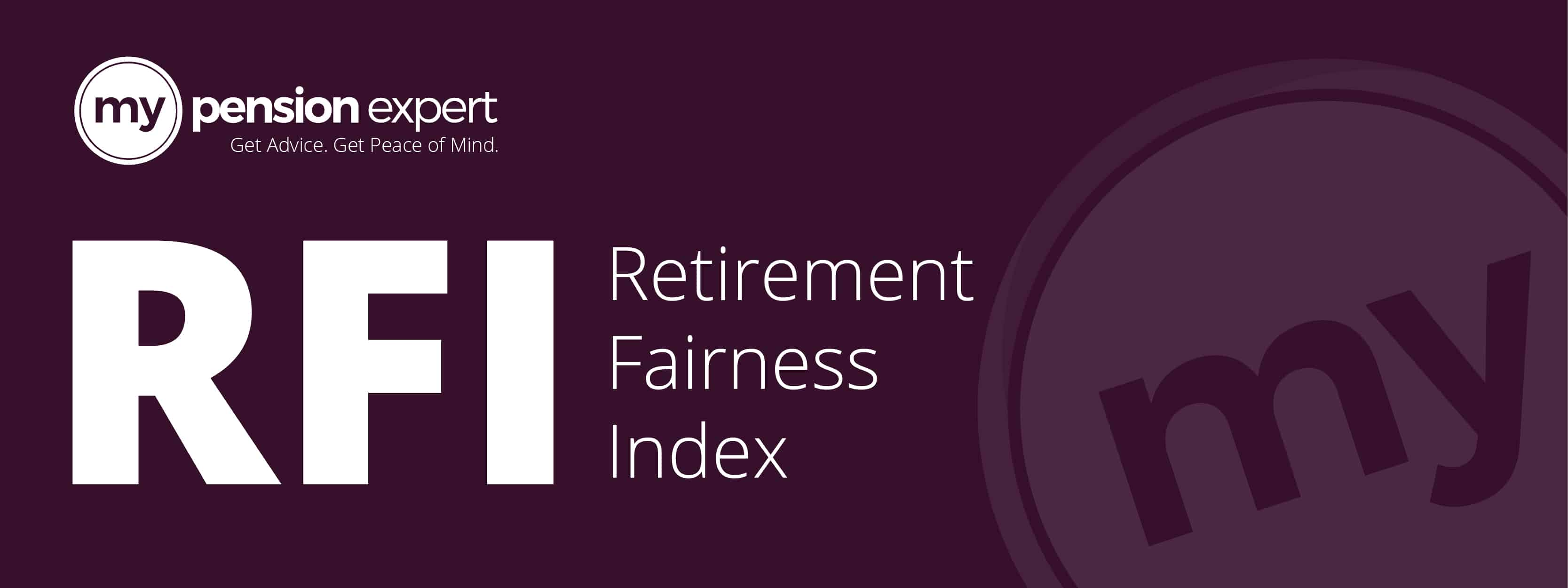 Retirement Fairness Index Banner